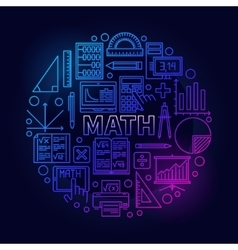 Math round bright symbol vector