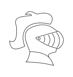Medieval helmet thin line icon vector
