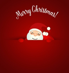 Merry Christmas Greeting Card with Christmas Santa vector