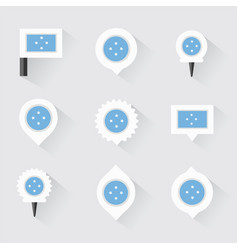micronesia flag and pins for infographic and map vector image