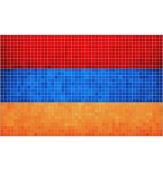 Mosaic Flag of Armenia vector image