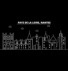 Nantes silhouette skyline france - nantes vector