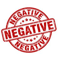 Negative red grunge stamp vector