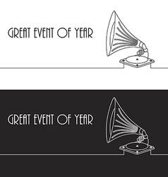 Old gramophone in eps vector