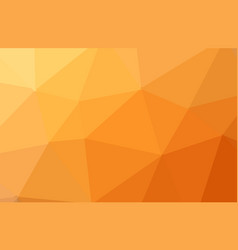 orange abstract geometric rumpled triangular low vector image