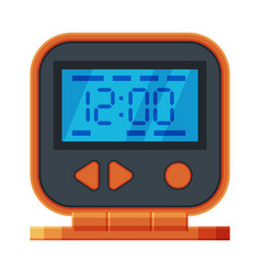 orange and black digital table alarm clock modern vector image