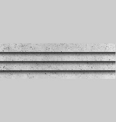 Panoramic texture realistic gray concrete vector