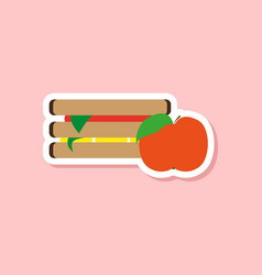 Paper sticker on stylish background sandwich vector