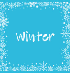 photo frame with white snowflakes and dots vector image
