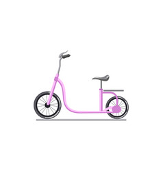 pink colored child cycle vector image