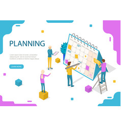 schedule or planner concept card 3d isometric view vector image
