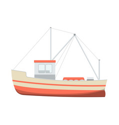 Sea fishing boat vector