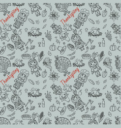 Seamless pattern 1 in childrens drawing style vector