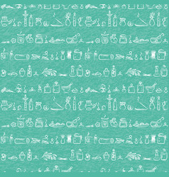 Seamless pattern - ayurvedic supplies vector