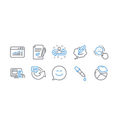 set business icons such as recruitment vector image