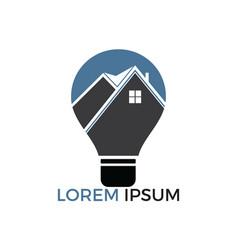 smart house logo design vector image