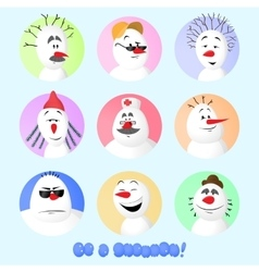 Snowman Avatar Set vector image