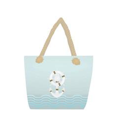 summer beach handbag vector image