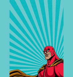 Superhero portrait 2 vector