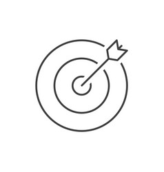 target outline icon vector image