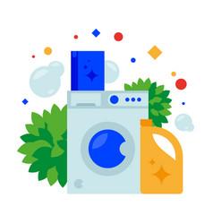 washing machine powder and fabric conditioner vector image