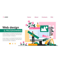 web page template for design vector image