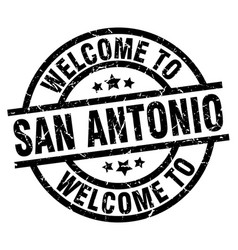 Welcome to san antonio black stamp vector