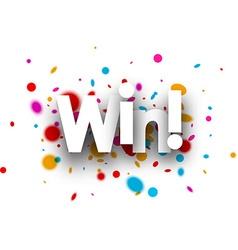 Win paper background vector