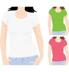 womens t-shirt template vector image