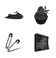 Wood glass design and other web icon in black vector