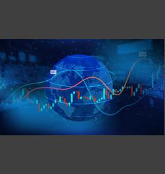 world economics concept 3d earth globe vector image