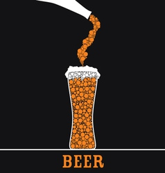 beer in glass color vector image