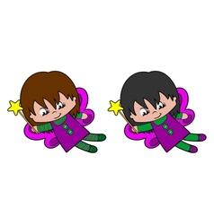 Flying Pixie Girl vector image