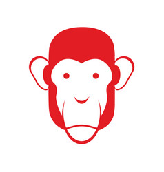 monkey face isolated chimpanzee head primacy of vector image vector image