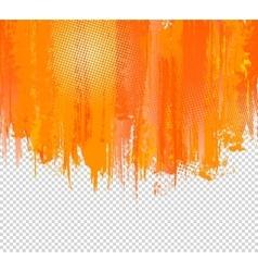 Orange Grunge Paint Splashes Background vector image vector image