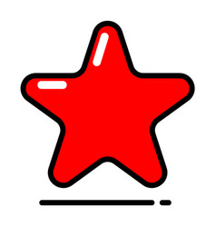red star icon favorite best rating award vector image