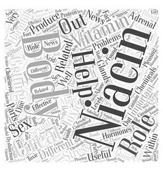 The Role Of Vitamin B Niacin Word Cloud Concept vector image