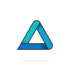 triangle logo isolated on white geometric vector image