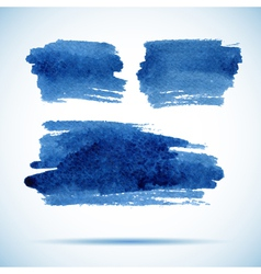 Brushstroke banners Ink blue watercolor spot vector image vector image