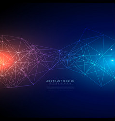 digital technology background made with lines mesh vector image vector image