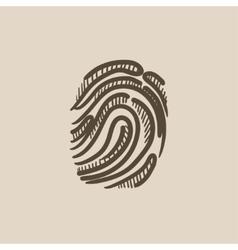 Fingerprint sketch icon vector image vector image