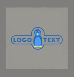 flat shading style icon penguin logo vector image vector image