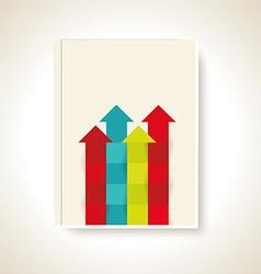 Modern brochure design with color arrows vector