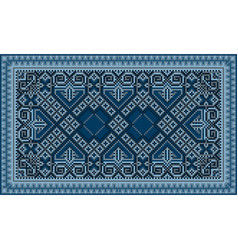 Refined luxurious vintage oriental carpet vector