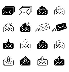 set with post icons vector image