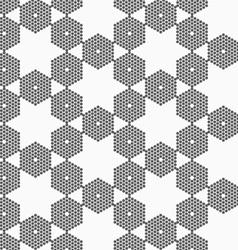 Textured with hexagons hexagonal grid vector image