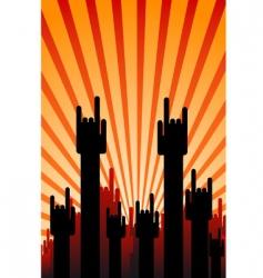 concert hands vector image vector image