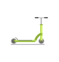 green kick scooter vector image vector image
