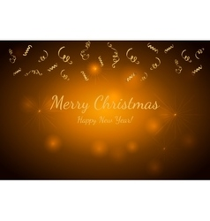 Merry Christmas and Happy New Year Gold vector image vector image