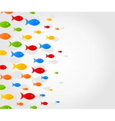 school of fishes background vector image
